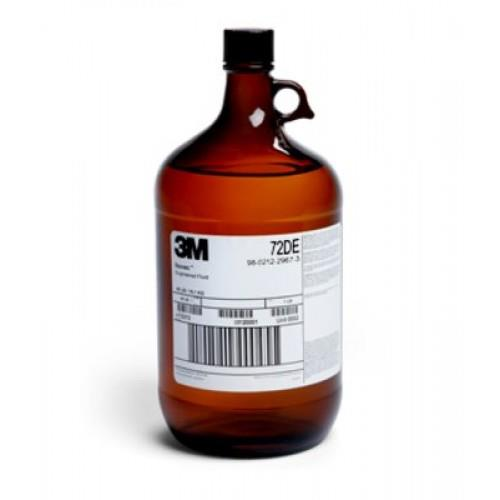 72DE Engineered Fluid   3M™ Novec™ 72DE Engineered Fluid is a blend of methyl nonafluorobutyl ether (C4F9OCH3), ethyl nonafluorobutyl ether (C4F9OC2H5), and trans-1, 2-dichloroethylene (t-DCE). In this mixture of solvents the t-DCE forms azeotropes with each of the hydrofluoroether components. The blend has been analyzed during evaporation and extended use in a vapor degreaser and found to have a consistent composition that is safe and effective for medium- to heavy-duty degreasing applications.  Novec 72DE fluid is ideal for a wide range of cleaning applications. It is intended to replace ozone depleting and chlorinated solvents as well as other solvent systems that do not have as favorable health, safety, or environmental properties. This Novec product has zero ozone depletion potential and other favorable environmental properties (see Table 2). 3M Industrial Hygiene monitoring indicates there is a large margin of safety between the exposure guidelines that have been established for each of the components and exposures anticipated from intended end-use applications.  The high solvency and low surface tension, nonflammability and stability of Novec 72DE fluid make it ideal for immersion and vapor degreasing applications. These properties also make the solvent ideal for certain coating and lubricant deposition applications where increased solvency is desired.   Applications   • Cleaning, rinsing and drying agent - Cleaning of oils, greases, waxes • Specialty solvent applications http://econtroldevices.com/index.php?route=product/product& product_id=633& search=72de