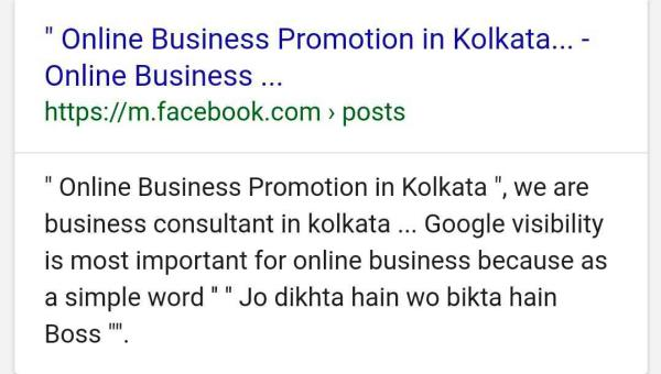 Its my Facebook Page look this and ask me how I promote this hear. Best Business Consultant In Kolkata  Online King Kolkata - Online Business Consultant In Kolkata, Online Business Advisor In Kolkata.