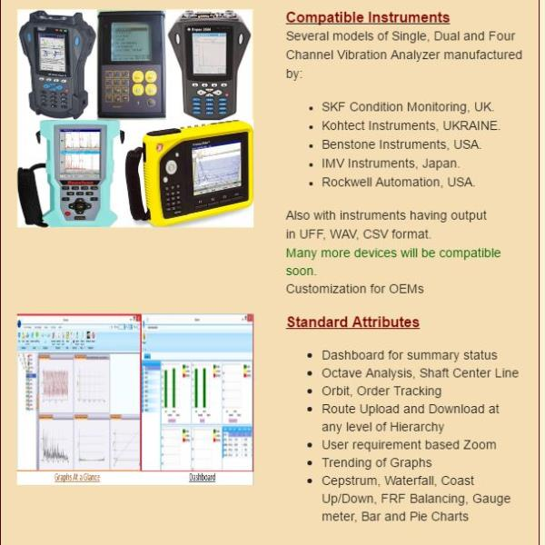 Advanced Vibration Analysis Software for Vibration Analysis Services Compatibility is the major issue while customizing a software for a hardware and it takes much time and money. So why not try our Advanced Vibration Analysis Software, Vib - by Vibration Analysis Call +91-1139585438, Delhi