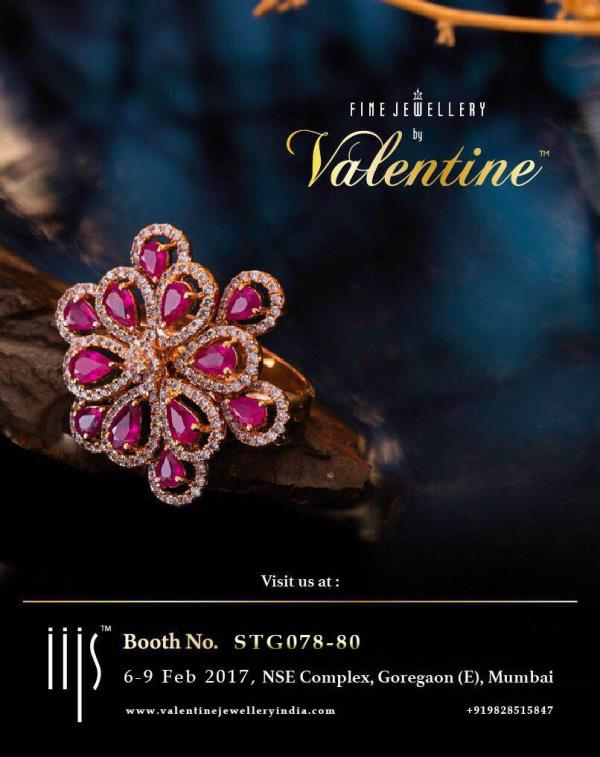Visit us at IIJS Signature Jewellery Show in Mumbai dated 6 - 9 Feb 2017, for an exclusive and daily wearable collection of Coloured Previous Gemstones and Diamond Studded Gold Jewellery at wholesale manufacturing price.  Appointments : please call at +91-9828515847