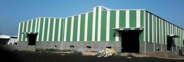 Industrial shed manufacturer. We manufacture industrial sheds, color coated sheets, purlins, tile roof profile, downtake pipes, decking sheet, crimp curve sheets, flashings and complete end to end solution for industrial building.