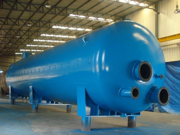 Despatched 12 such Vessels (L 16000 mm  x D 4000 mm) With Internal Rubber Lining  for Doha Water Treatment Project
