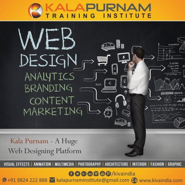"Web Designing and Multimedia Institute In Ahmedabad  ""Web Designing has a vast scope with the booming IT industry not in India but also in abroad"".                    Web designing is a very exciting career choice! Web designers build cool & engaging websites with interactive pages and navigation. Web developers write code & setup software to add complex features & advanced functionalities to websites & portals."
