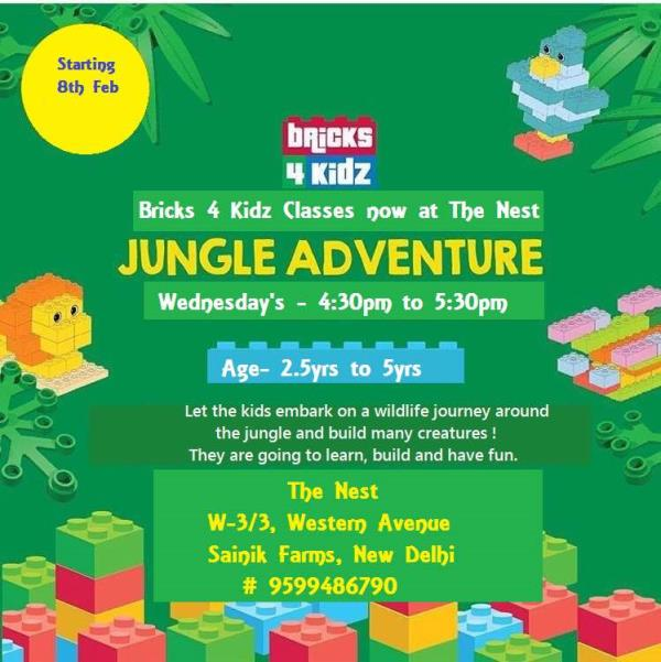 Learning can never be so much Fun..!!  With Bricks4kidz@The Nest  A part of Sparrow - Best Online Library Delhi  - by Sparrow : Bringing Stories To Your World, Delhi