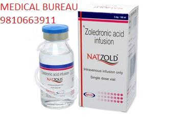 Natzold ( Zoledronic Acid Infusion ) Big Dealers In India Best Prices Available Contact-Medical Bureau                 +91-9810663911 - by Medical Bureau, New Delhi