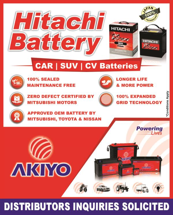 Distributors Inquiries Solicited for Hitachi Automotive Battery  www.akiyo.in | hitachi@akiyo.in Customer Care No. +91 8155 888 555 - by Alf Technologies (India) Pvt. Ltd., Ahmedabad