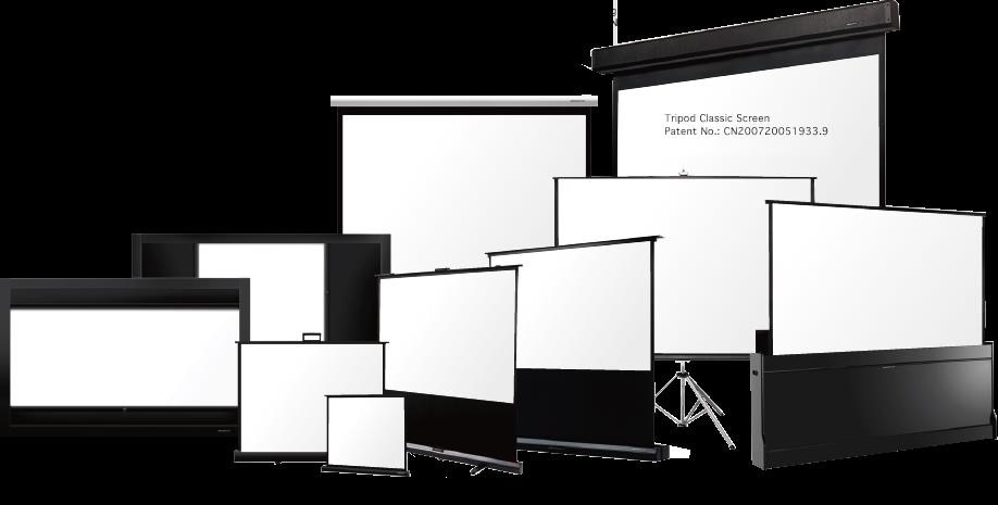 The complete range of Projector screens are available at Viewtech Hyderabad.  Manual pull down screens, Wall mount screens, Motorized screens, Tripod screens,  Fixed Frame screens, tab tension screens, in ceiling screens,  floor up screens, large format screens.  We at Viewtech Hyderabad have Projector screens for all applications to suit all your needs.