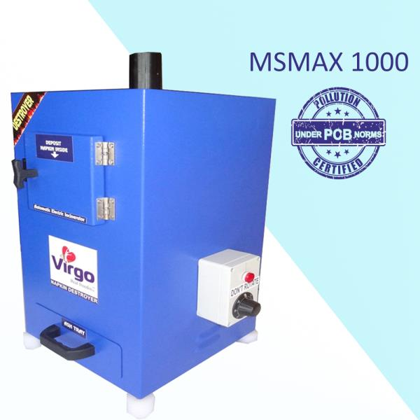 Sanitary Napkin Incinerator Mechine Suppliers in Palakkad  Sara Equipment – Find here stainless steel small Electric Sanitary Napkin Incinerator Machine with smoke control equipment, which is delivered under the brand name of Virgo. Thus ma - by Sara Equipments - Call 9514344878, Tirupur