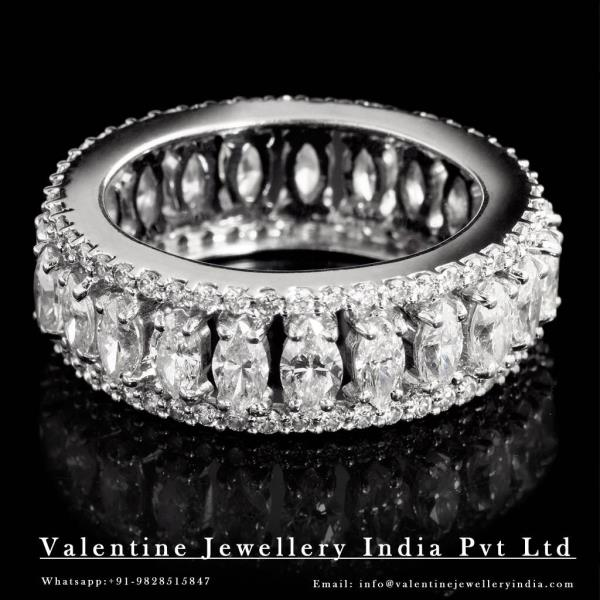 Diamond Band Rings to match your Jewelry desires of fine jewellery  at our exclusive outlet store of Valentine Jewellery. Visit us for your upcoming big fat event and select from our Fantastic Looking Precious Rings at Wholesae Price. For personalised styles get in touch via email @ info@valentinejewelleryindia.com