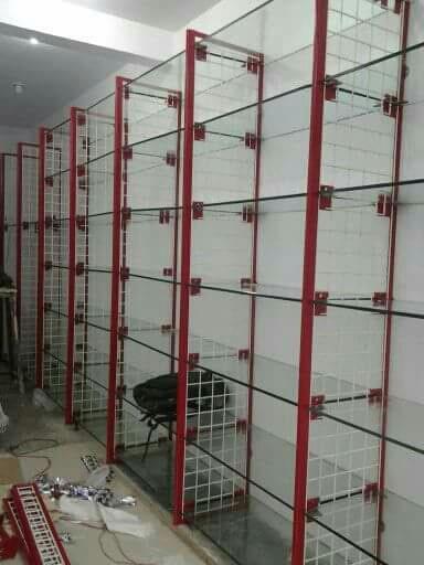 We are manufacturing various types storage racks.  Glass display racks  Display Rack  Supermarket Rack  Showroom Rack   For more information  Log on  www.spasstoragesolution.com  www.spasstoragesolutions.com  Email: contact@spasstoragesolution.com  totalstoragesolutions@gmail.com  WhatsApp : 09987066055