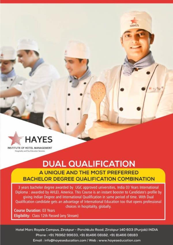 Degree  & Diploma Hotel Management course chandigarh   Registration open for the Dual course ( Degree & Diploma) in Hotel Management . Reserve your seat and avail scholarships .