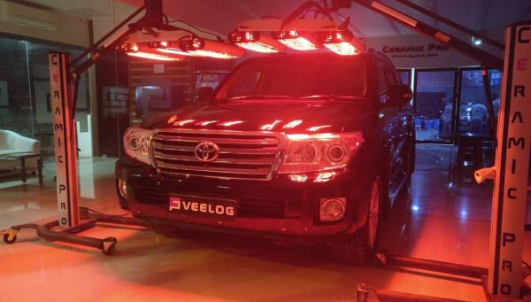 Land Cruiser VX V8 Infrared Curing Ceramic Pro Chennai Nano Ceramic Coating Hardness above 9H Supreme Gloss and Preservation