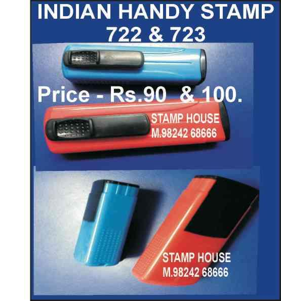 Handy stamp in two size  47 x 18  &  38 x 16 mm .10 Rs extra discount in printed  size.