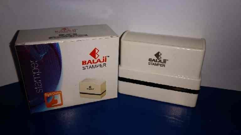 Balaji Pre ink Stamp :4 size  A 63 x 23  B 59 x 17 F 49 x 22 R 30 x 30 . All 4 size Net Rs. 23/- per PCs.
