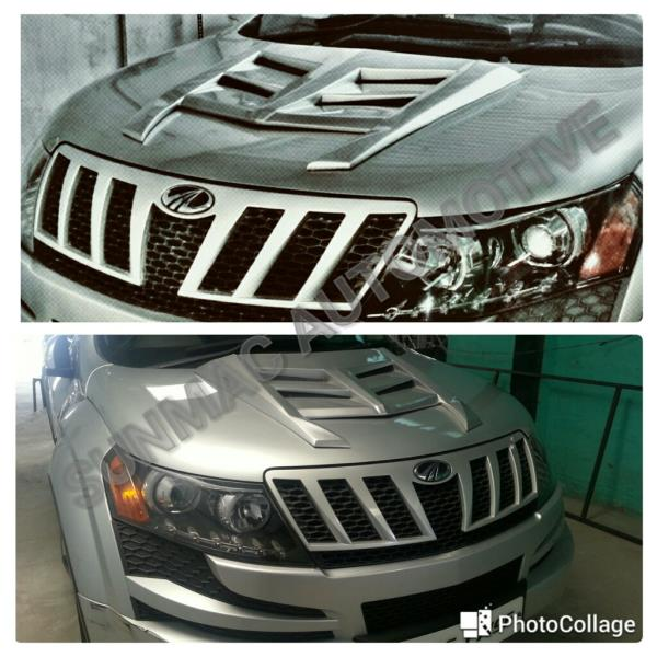 XUV 500 modification in Coimbatore  XUV 500 Bonnet alteration - by Sunmac Automotive, Coimbatore