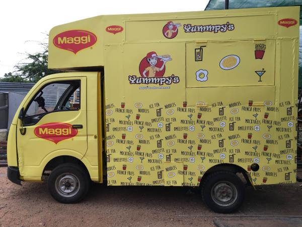 Delivered food truck to Yummpy's  Best food truck manufacturer in Hyderabad