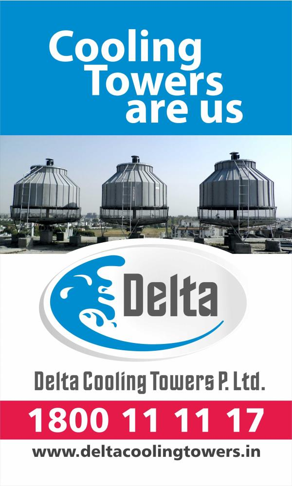 Cooling Tower  A  Cooling tower  is a heat exchanger inside of which heat is withdrawn from the water by contact between the water and the air.   www.deltacoolingtowers.in - by Delta Cooling Towers P. Ltd.  9811156637, New Delhi