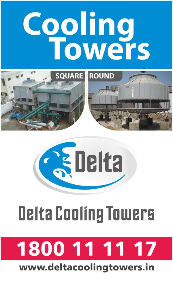 Cooling Tower  The heat transfer in the Cooling Tower occurs through the heat exchange between air and water and through the evaporation of a small part of the water that needs to be cooled.  www.deltacoolingtowers.in - by Delta Cooling Towers P. Ltd.  9811156637, New Delhi