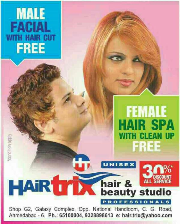 welcome HairTrix is FACIAL EXPERTS IN AHMEDABAD Hello all Gentle Men It is best time to grab the opportunity for toning your face with expert. book your appointment with expert for Facial and got one hair cutting session free.