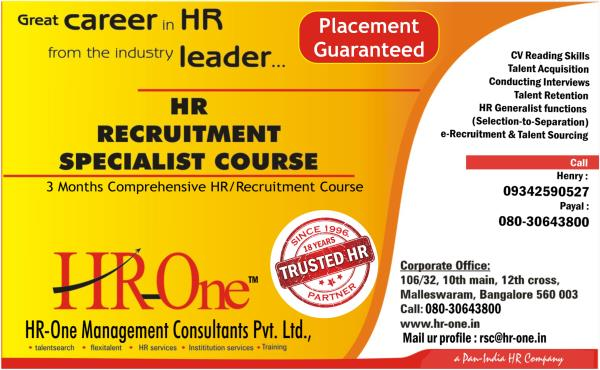 HR-One Management is specialized in Recruitment  and Manpower service.