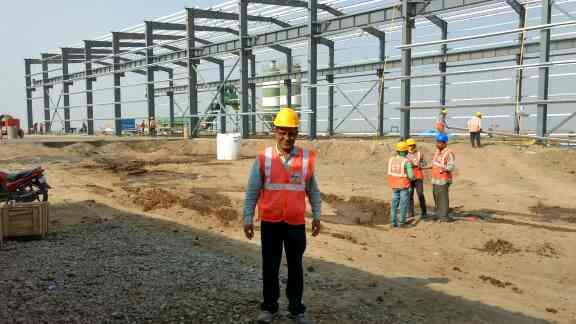 Our PEB shed in progress in sanand Ahmedabad Gujarat