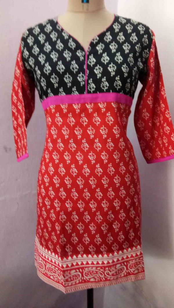 short cotton Kurti manufacturers in Jaipur we have many varieties in Kurtis we are the manufacturer of Kurti we are from Krishnaa Trade fab sanganer JAIPUR for more information contact us at 9928671159