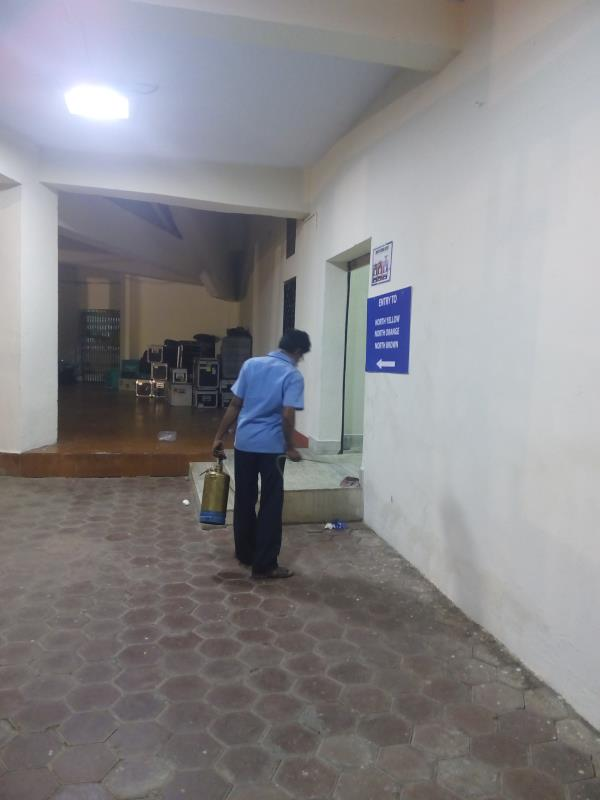 Pest Control Service in Thiruvanmiyur.  This treatment is carried out against household pests like Bed Bugs, cockroaches, ant and other crawling insects.  The treatment consists of spraying a combination of insecticides in all vulnerable areas where these insects live and breed in the inside areas of Hotel.