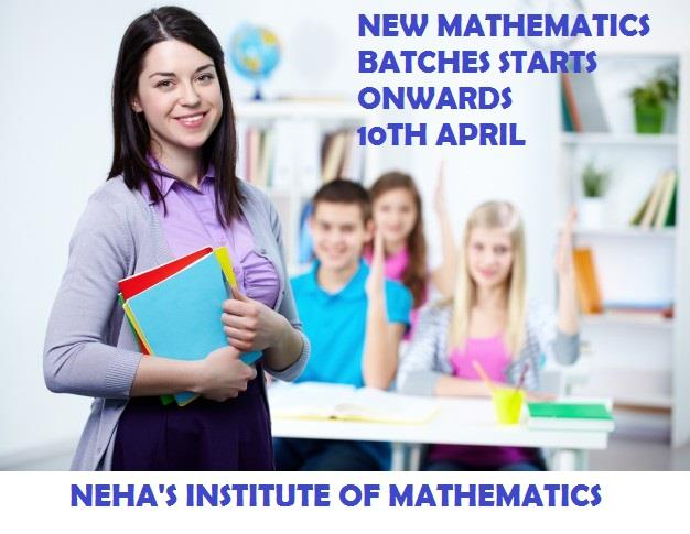 The Neha math Institute is renowned as one of the most result oriented coaching center for Mathematics of various boards. Our coaching center located in sector 38 and providing various services to the students such as tuitions for CBSE class 8th 9th  10th 11th 12th and B.Sc , M.sc and BA .Our mathematics  institute  doubt removal sessions for helping students in overcoming the obstacles they have fear during  their preparation. This helps to develop confidence. Real mathematics coaching with us