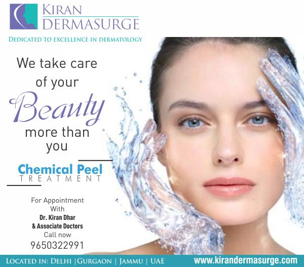 #ChemicalPeels your one stop instant glow solution starting from just Rs: 1500 only at #KiranDermasurge