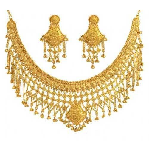 916 Gold Necklace  Leveraging over the skills of our qualified team of professionals, we are instrumental in offering wide range of Trendy Gold Necklace.  Features:  Elegant design Smooth finish Light weight