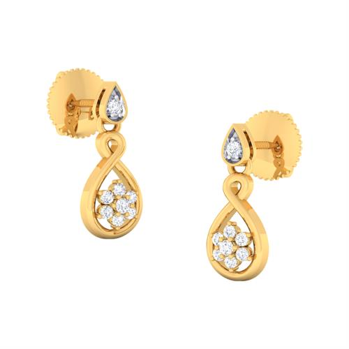 916 Gold Earrings  Our company has gained immense experience in the field of presenting Bridal Hanging Earrings.  Features:  Long lasting shine Captivating look Exquisite design