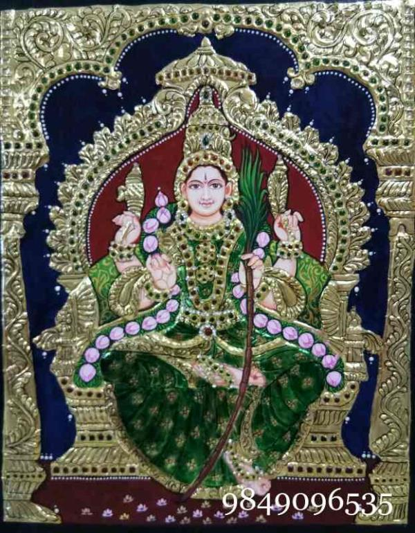 Tanjore painting Lalitha devi Tanjore painting sales in Ameerpet  Tanjore painting classes in Ameerpet  Tanjore painting in Ameerpet  Tanjore painting images  - by Shantha Painting Institution, Hyderabad