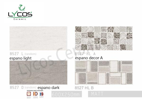 High Quality Low Price Latest Design Digital Wall Tiles  250x600mm   Lycos Ceramic Pvt. Ltd. is one of the best quality manufactures of Ceramic Wall tiles in India. It has an annual capacity of 3 Million Sq/mtrs. Lycos Ceramic has touched new echelons in a very short spam of time.   Today with its huge distributor network Lycos Ceramic is growing at a rapid pace in the industry.   Today we are an integrated part of modern living combining the wining qualities of beauty and value of money. Lycos Ceramic have united the toughness of vitrified tiles with modern technology and customer aspirations to produce a range that is vast in choice. The motivating factor remains the zeal, the to be the best and to achieve the highest parameters of excellences.   Trust quality and reliability have been on the priority list of Lycos Ceramic and it is committed to continue fulfilling the expectation of their vast array of customers. The Indian Consumers rapidly growing appetite for style and variations is the inspirations behind every design of Lycos Ceramic. Lycos Ceramic has today become a synonym for quality and service.   To work with the client & not for the client. Lycos ceramic has always believed that team work pays. It always sees that the distributors & dealers of the company should be treated as a family members and should be taken care responsibly. Company is still working with the same groups with which it started on day one and continuously growing having a clear vision of future developments of Lycos Family.