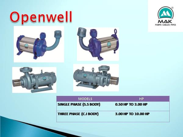 We Mak Pump Industries is a leading manufacturing and supplying company manufacturing various types of OPENWELL PUMPS and supplying across all over India. Our OPENWELL PUMPS are manufactured in Gujarat with latest manufacturing techniques a - by Mak Pump Industries, Ahmedabad