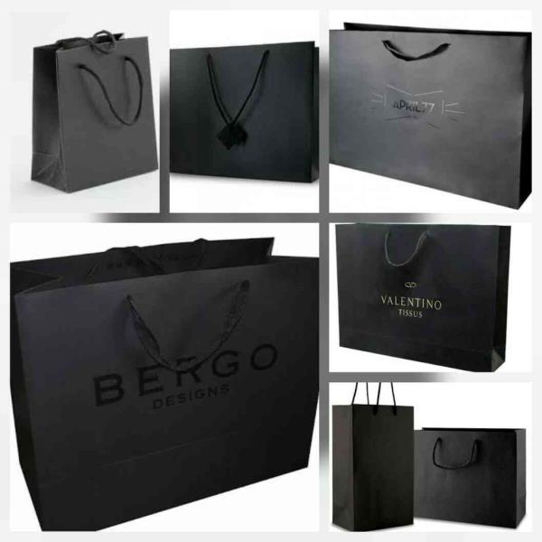 Beauty lies in black  Awesome Hand crafted handmade paper shopping bags of different brands