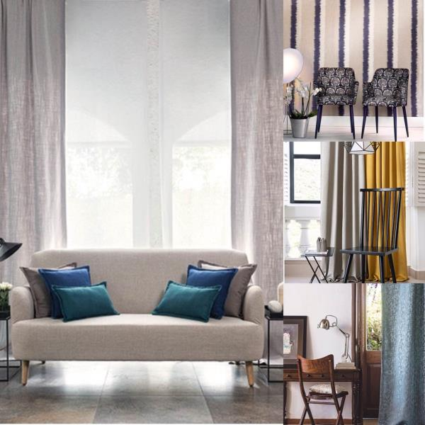 Cool as linen... yet fascinating as royalty... get the best of both worlds   #designerassisted #bestschemes - by Drapes And Spreads, Gautam Buddh Nagar