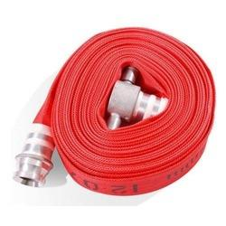 Modern fire hoses use a variety of natural and synthetic fabrics and elastomers in their construction. These materials allow the hoses to be stored wet without rotting and to resist the damaging effects of exposure to sunlight and chemicals - by R S Enterprise, Kolkata