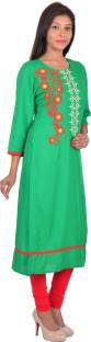Latest Design of Embroidery Kurties With Best Combination of color in Cotton and Rayon Fiber. Rajasthan Print Market