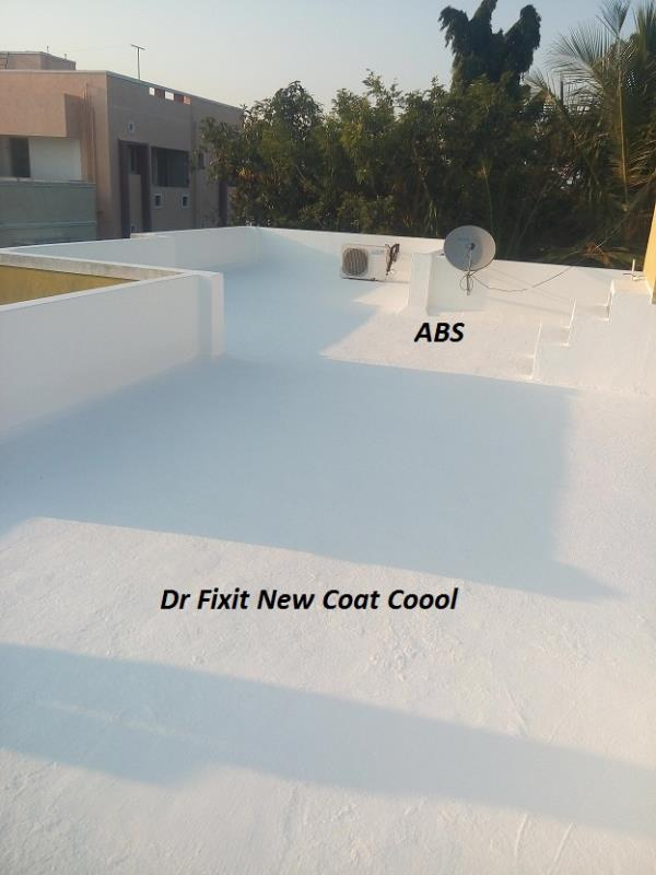 Dr Fixit Newcoat Coool is the product designed for Waterproof Cum Cool Roof Coating. New Coat Coool  SRI value is 106 with elongation property of more than 100%.Dr Fixit New Coat Coool is the best product for Terrace Cool Coating with Terrace Water Proofing properties. For application in chennai, please all Dr Fixit Authorised Applicator, Admiral Building Systems, 8608535353