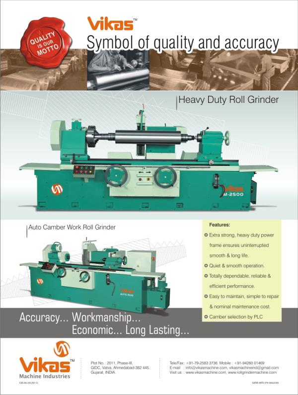 autocamber roll grinder : VIKAS MACHINE INDUSTRIES in Ahmedabad,India