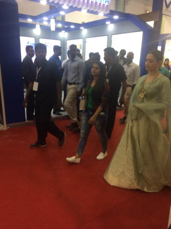Famous South Indian actress Tamanah Bhatia crossing our stall Credai fairpro 2017 - by NKV HOME DEPOT, Chennai