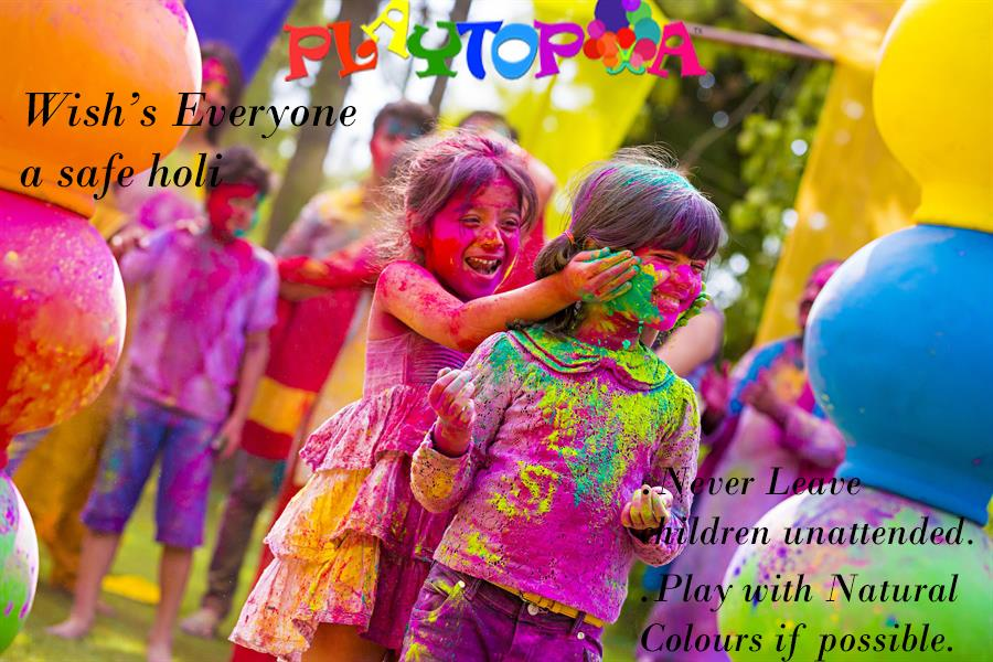safe and happy holi with playtopia