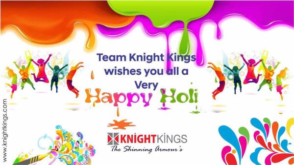 Team Knight Kings wishes you all a very Happy Holi  #GSMATHAROO #team #KNIGHTKINGS