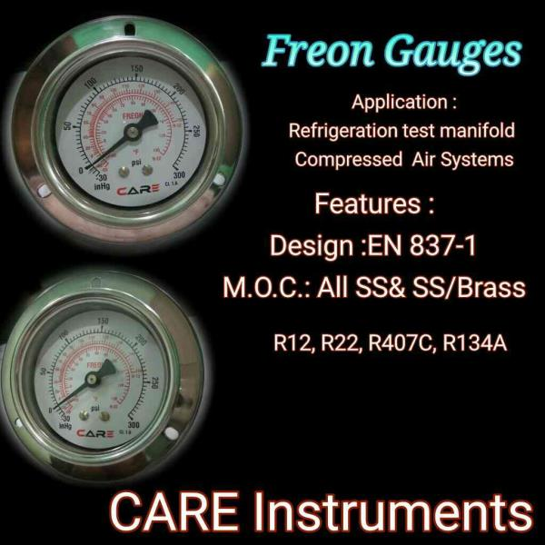 We are manufacturer of freon gauges foe all gas application.