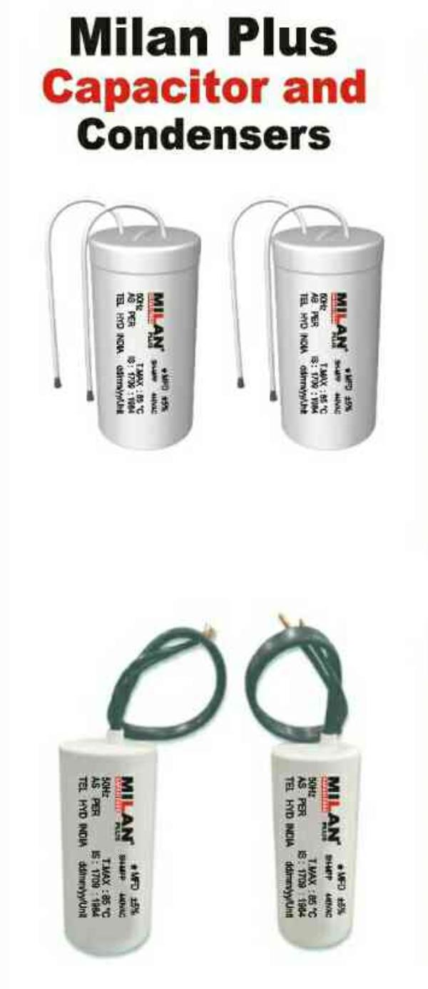 we milan power are manufacturer and supplier of capacitor and condensors in jaipur rajasthan - by MILAN POWER - Manufacturer And Distributor Of Wires, Cables And Electrical Accesories., Jaipur