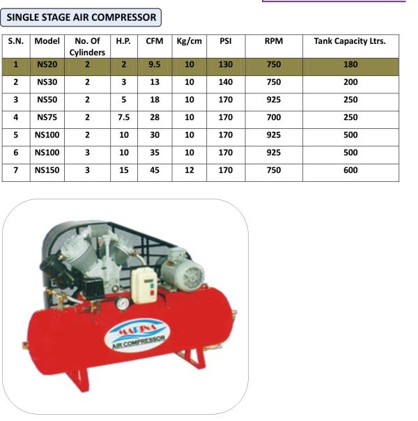 AIR COMPRESSOR  BRANCH MARINA  0.5 HP to 10 HP