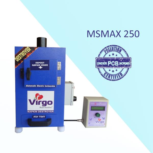 "Sanitary Napkin Disposal Machine Suppliers in Thrissur  ""Sara Equipments"" manufactures Sanitary Napkin Incinerator Machine, Sanitary Napkin Destroyer Machine, Sanitary Napkin Burning Machine, Automatic Sanitary Pad Burning Incinerator Machine, Sanitary Pad Burning Machine, portable Sanitary Napkin Incinerator Machine, and Portable Sanitary Napkin Disposal Machine. The range starts from 40 pcs per day to 1200 Pcs per day. Above all Our Sara Napkin Incinerator Machine is fabricated under the Tamilnadu PCB Norms.   Advantages:  • Stress free for women  • Reduces plastic bag usage  • Avoid blockages in toilet plumbing  • Avoid waterway pollution  • Avoid drainage line chock up  • Saving water and healthy environment   Virgo Sanitary Napkin Disposal Machine Features:  • Wall mountable.  • Powder coated Mild steel / Stainless steel body  • LCD display with temperature and time indication  • Double wall ceramic board technology 'PUF' insulation  • Easy removing Ash collecting tray ensures cleanliness.  • Big door open makes it convenient to load used napkins.  • The heater of high power makes the temperature rise quickly and improves the efficiency.  • Double stage computer programmed control panel gives Long life for heater and reduce the electricity bill.  • Available with size of 50, 100, 200 and 500 napkins per day.   For more details or buy online, visit: https://www.youtube.com/watch?v=f3exiFKx"
