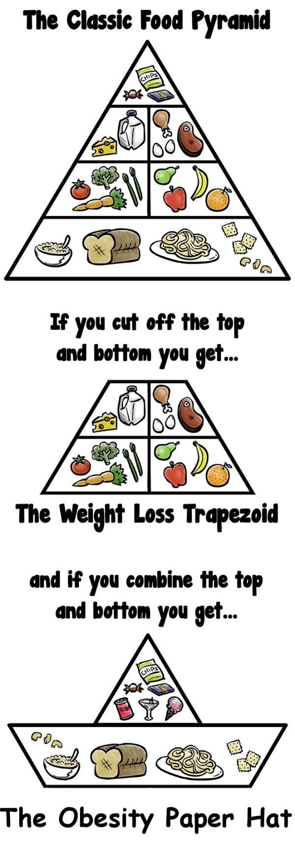 A different way to interpret the classic food pyramid:  It is very important to incorporate all layers of the food pyramid into our diet in the right quantity. Unfortunately our lifestyle is such that - by Weight Loss Hyderabad, Hyderabad