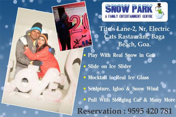 Boring From Life ????? Wanna Some Break.. Just Short Drive To #Snowparkgoa Freeze Time With Sun, Sand & Snow..  +91 9595 420 781