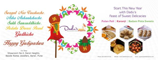 Start this New Year with Dadu's Feast of Delicacies. Wishing you a Happy Gudipadwa !